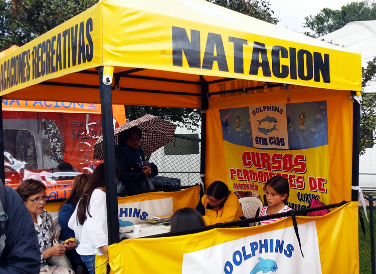 Caseta Amarilla Natacion Escuela Dolphins Gym Parque Sauzalito